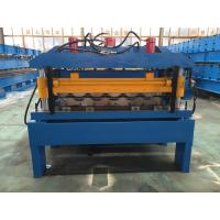 China Hydraulic Cutting Steel Roofing Tile Roll Forming Machine With Chain Drive 2-4m/Min wholesale