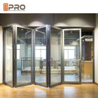 China Modern Design Aluminium Folding Stacking Doors For Residential House wholesale
