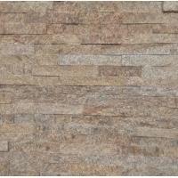 China yellow Natural stone cultured stone veneers stacked stone glued wall cladding tiles panels on sale