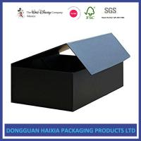 China Customized Magnetic Closure Gift Box Black Color Foldable Cardboard Boxes on sale