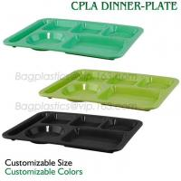 5 Compartment Lunch Box Disposable Plastic Food Container, biodegradable Fast Food Tray, disposable safety meat tray