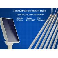 China 10 Tubes Solar Powered Meteor Shower Lights String 50cm With EU / US Plug wholesale