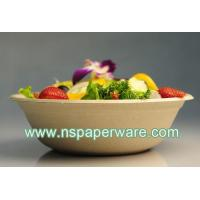 China 680ml Biodegradable Disposable Sugarcane Bagasse Soup Bowl on sale