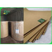 Buy cheap 350gsm 400gsm Virgin Kraft Packaging Paper For Gift Box 65 * 86cm Sheet from wholesalers