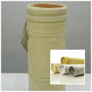 China 800GSM High Temperature Filter Bags / Pocket  FMS Fibreglass Filter Bag wholesale