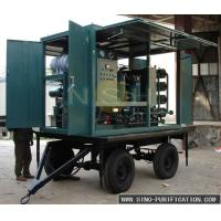China Small Size Vacuum Dehydrator Oil Purification System Degassing Double Stage wholesale