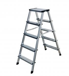 China Household Aluminum Step Stool  2x5 Steps   150kg / 330lb  Load Capacity wholesale