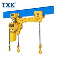 China Full Certificate Double Hook Electric Chain Hoist , Traveling Type 1.5 Ton Hoisting Equipment  wholesale