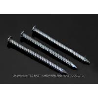 China Diamond Point Blue Finished Steel Concrete Nails Grooved Shank Flat Head wholesale