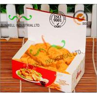 China Coated Paper Display Foldable Cardboard Boxes For Fried Food Products Packaging on sale