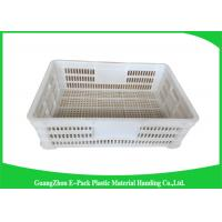 Buy cheap Economic Plastic Storage Food Crates / Stackable Storage Containers from wholesalers