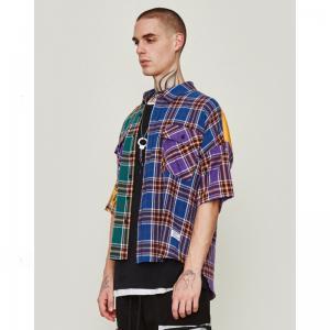 China OEM 45% Cotton 55% Polyester Grid Men Shirts M To 5XL Size wholesale
