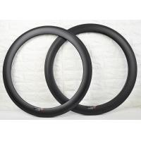 China 700c 60mm Carbon Clincher Rims , Carbon Cycling Rims To Absorb Vibrations wholesale