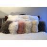 China Long Hair Sheepskin Real curly Sheep fur pillow Mongolian lambswool Cushion wholesale