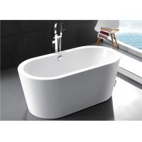 China Solid Surface Modern Freestanding Bathtub , High Back 55 Inch Freestanding Tub wholesale