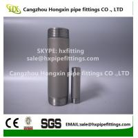 China Shot blasting Astm ANSI B1.20.1 carbon steel pipe nipple,barrel nipple,SCH40,SCH80 wholesale