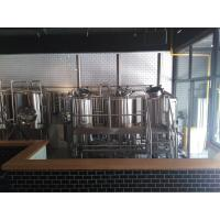 China Commercial Beer Brewing Equipment , Stainless Steel 40 BBL Brewhouse Steam Heated wholesale