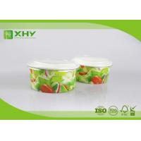 Buy cheap Flexo Printed Logo 20oz 32oz  Paper Salad Containers With 320gsm Cardboard Paper from wholesalers