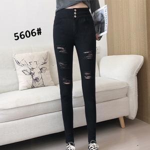 China S-5XL Custom Lady Skinny Denim Pants Slim High Waist Jeans wholesale