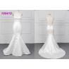 China Micado A Line Halter White Mermaid Wedding Dress Spring Modern Bridal Wear wholesale