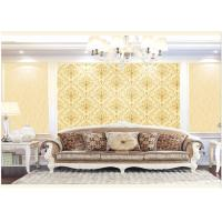 China Contemporary Damask Deep Embossed Wallpaper Waterproof For Interior Room wholesale