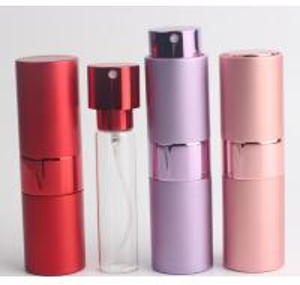 China Cylinder Shape Travel Perfume Atomiser 5ml Aluminum  With Pump Sprayer wholesale