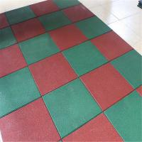 Quality Solid color recycled rubber flooring tile playground outdoor park mat for sale