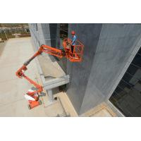 China Diesel Articulating Boom Lift Reaching15m Platform Height with Perkins Engine on sale