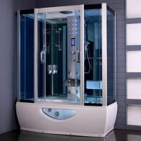 China Tempered Glass Rectangular Shower Enclosure Steam Tub Shower Combo With Shower Handle wholesale