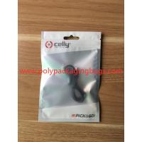 China White Plastic Translucent Pearl Film Data Line Zipper Bags 8 Colors Gravure Printing wholesale