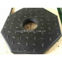 China Outdoor Rubber Pavers / Rubber Floor Paver Training Room Interlocking Tile wholesale