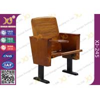 China Slim Metal Leg Conference Hall Chairs with Strengthen Standing Foot Wood Seat wholesale