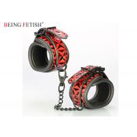 China Beginner's Bondage Fantasy Leather Cuffs Perfect for Couple Play on sale