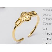 China Beauty S925 Sterling Silver English Letters BABY Opening Adjustable Ring Gold - Plated Fashion Index Finger Ring on sale
