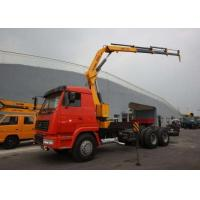China XCMG 5 Ton Transportation Folding Boom Crane / Lorry Mounted telescopic mobile crane wholesale