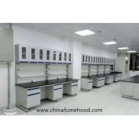 China Customized Wall Chemistry Lab Furniture With Reagent Shelf Resistance Acid on sale