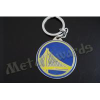 China Circle Design Bridge Metal Key Chains Metal Key Fobs Hard Enamel Customize Logo on sale