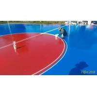 China Red / Green Rubber Sports Flooring For Multi Purposed Surface Refresh Builder wholesale
