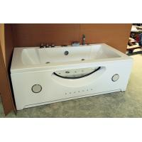 "China Large 70"" Corner Whirlpool Bathtub 2 Person Jetted Tub Built - In Heater wholesale"
