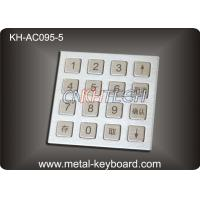 China 4 X 4 Matrix Door Access Keypad with Rugged Stainless Steel Material wholesale