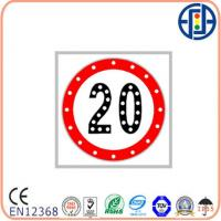 Buy cheap 600*600 Mm Solar Traffic Signs , Solar Traffic Signal Speed Limit Control from wholesalers