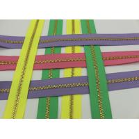 China Metal Ykk Sewing Notions Zippers ,  Pink / Green / Purple Tape 9 Inch Separating Zipper wholesale