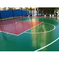 China Badminton Court Rubber Sports Flooring With Hard Top Environmental Friendly wholesale