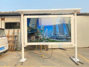 China 65 inch landscape type gas and petrol station waterproof 2500 nits screen advertising lcd outdoor kiosk wholesale