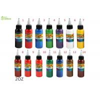 China Blue / Yellow / Green Tattoo Ink Pure Plant Pigment  2oz ,  Permanent Eyebrow Ink on sale