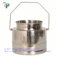 China 5 Litre stainless steel milk bucket for cow milking machine, milking machine bucket wholesale