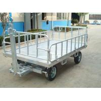 China Non Slip Airport Baggage Cart , Container Pallet Dolly Wear Resistant wholesale