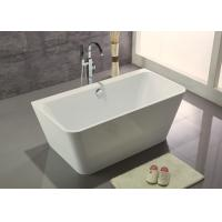 China Acrylic Resin Square Freestanding Bathtub Contemporary Small Freestanding Bath 1500 wholesale