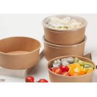 Buy cheap Disposable Paper Bowl With Lid For Take Away disposable hot soup paper bowl from wholesalers