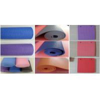 China Soft PVC Carpet Flooring , Gym Exercise Non Slip Yoga Mat Folded Pattern wholesale